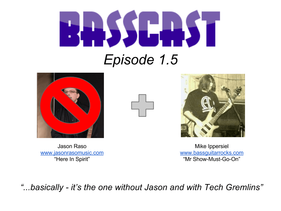 Basscast 1.5 cover art - Mike hosts without Jason episode