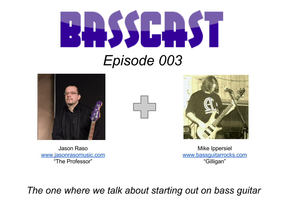 Basscast episode 3 about starting out on bass guitar