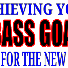 Setting bass goals slide cover for episode 10 of the basscast